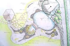 Teichanlage mit Gartenhaus