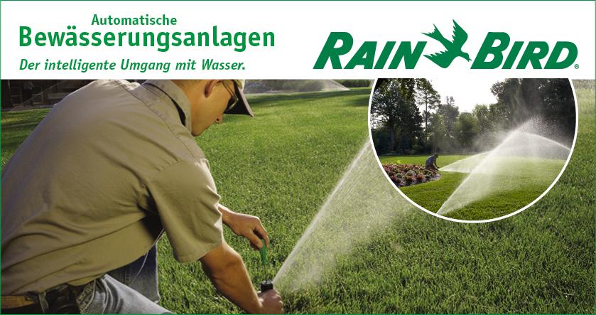 Inseratebild Rainbird - Automatische Bewässerungsanlagen